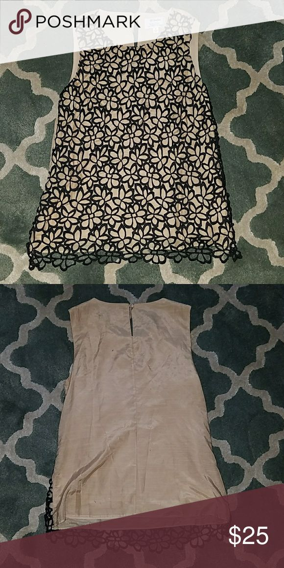 LELA ROSE Neiman Marcus Black & Tan Lace Tank Top Excellent condition, from limited edition Neiman Marcus for Target line. Lela Rose Tops Tank Tops