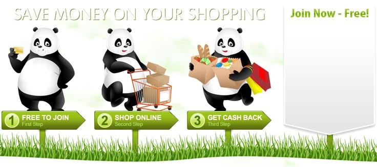 Cash back shopping, rebate >> cash back website --> www.pandacashback.com