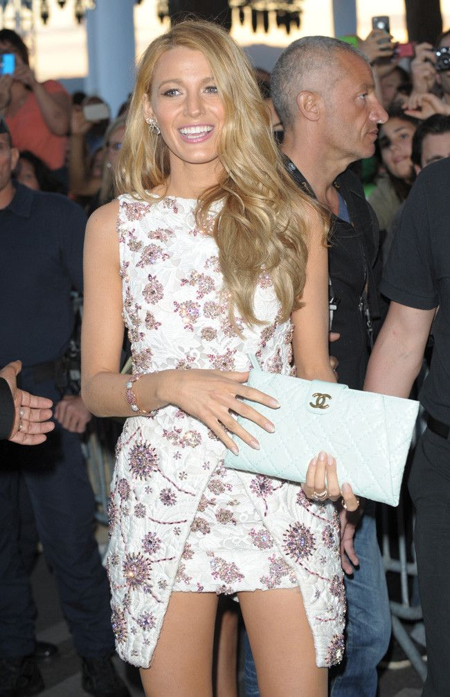 Cannes Festival   Giambattista Valli Couture Dress and Chanel Clutch, Blake Lively