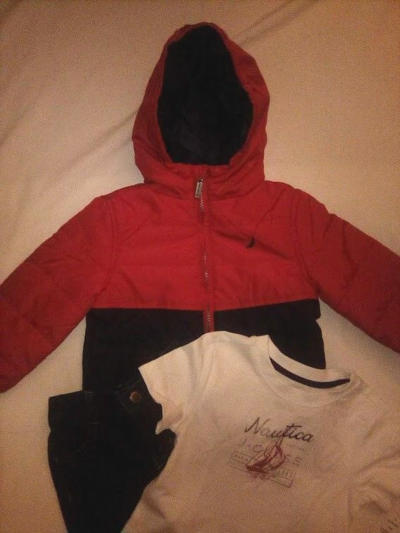 342977506a2b NWT Nautica 3 pc 24 month childrens hooded jacket blue jeans and t ...