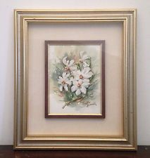 "Virgilio Bianchi acquerello 24 x 18 "" Narcisi"" 1991"