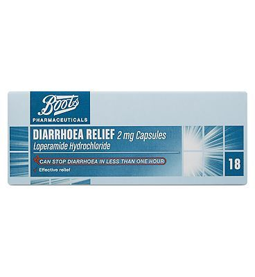 #Boots Pharmaceuticals Boots Diarrhoea Relief 2mg Capsules - 18 #20 Advantage card points. Boots Pharmaceuticals Diarrhoea Relief 2mg Capsules can stop diarrhoea in less than one hour.Please scroll down to view Active Ingredient(s) and strength.See details below, always read the label. FREE Delivery on orders over 45 GBP. (Barcode EAN=5045095384487)