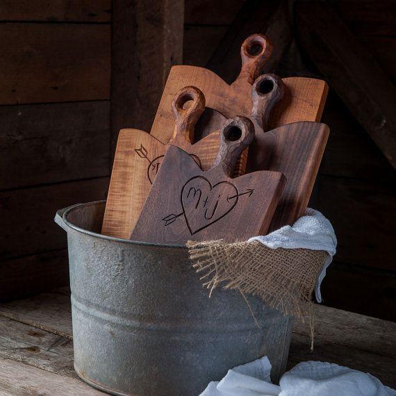 Personalized Breadboard - Custom Cutting Board - Walnut Carved Board -  Serving Board - Custom Wedding Shower Gift