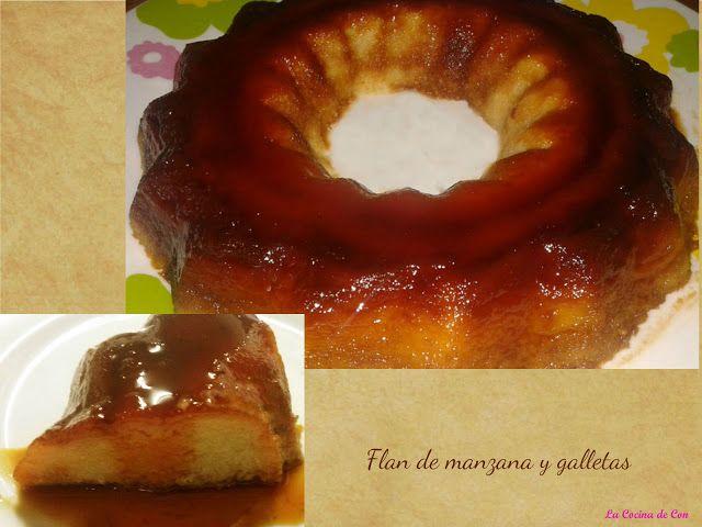 Flan de manzana y galletas en el microondas - Blogs de Recetas de cocina