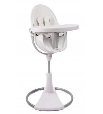 Fresco Chrome Highchair White Frame - Coconut White