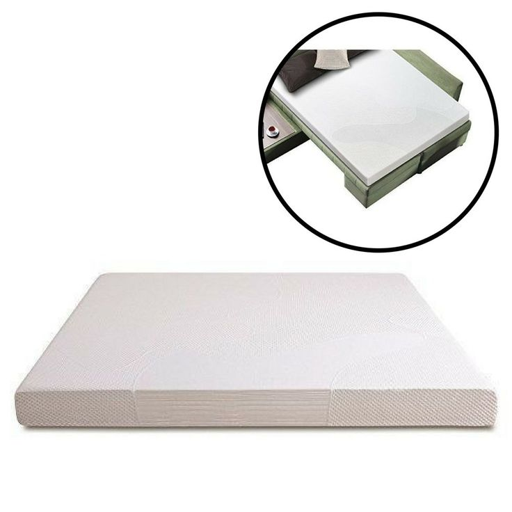 Sleeper Sofa Mattress Full Memory Foam 5 Inch Replacement Cool Gel Sleep Comfort #Unbranded