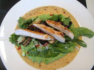 En verden af smag!: Tortilla med Ærtecreme og Kylling