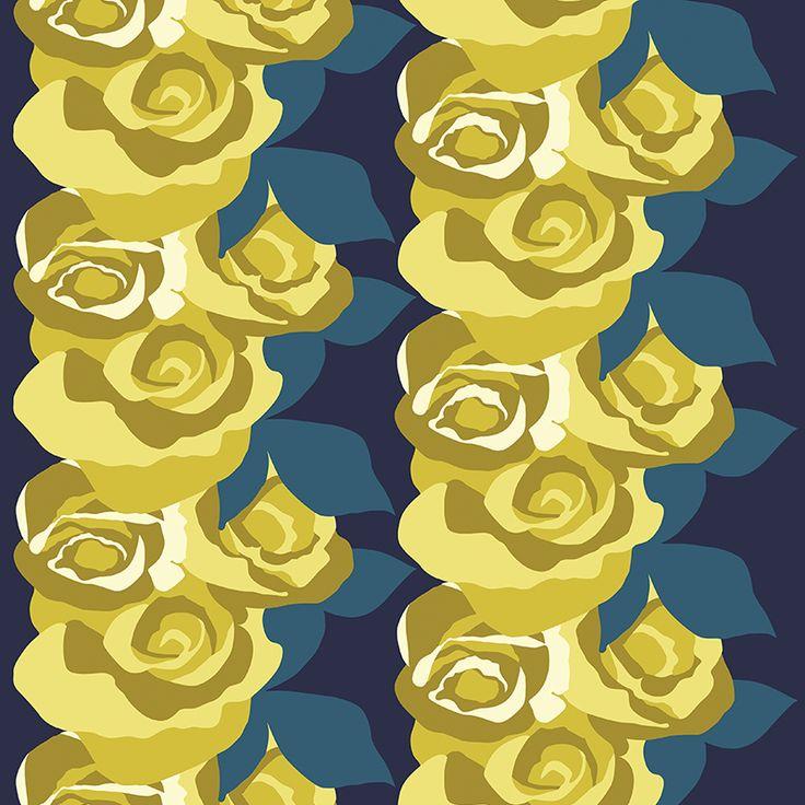 Amanda Mini Lime // Metsovaara Premium Print collection from Materialised www.materialised.com  #metsovaara #print #collection #premium #pattern #textile #fabric #interiordesign #materialised