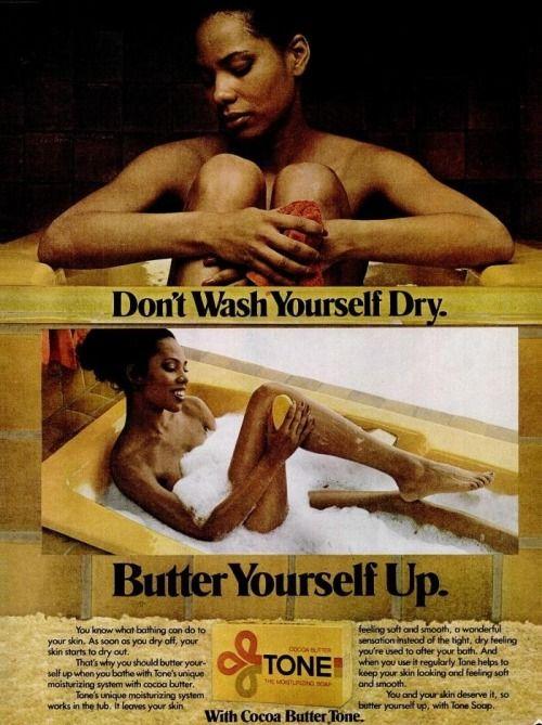 "retroblackmedia:  ""Tone Soap Print ad (1979)  """
