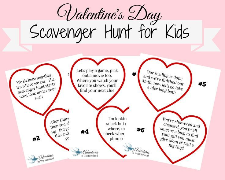 Valentine S Day Scavenger Hunt With Printable Clues A
