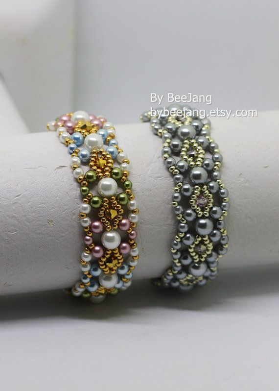 PDF Tutorial Pearla bracelet Beading Instruction by bybeejang