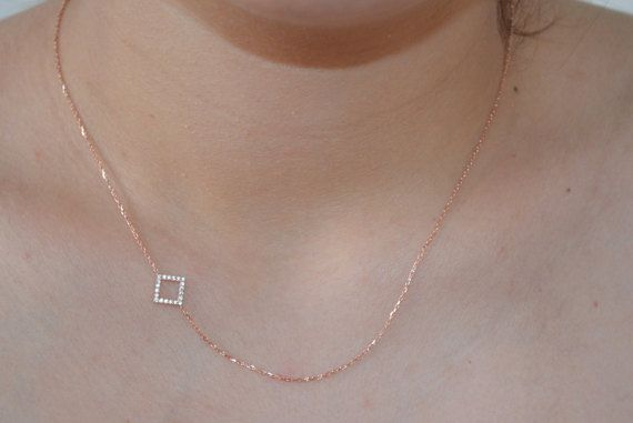 Check out this item in my Etsy shop https://www.etsy.com/listing/278581116/square-necklace-sideways-necklace-925k