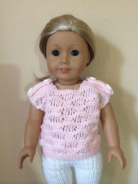 Ravelry: Easy Going Short Sleeve Sweater for AG Dolls pattern by Marinda Crea...