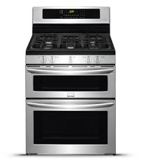 Frigidaire Gallery 30'' Freestanding Gas Double Oven Range Stainless Steel-FGGF304DPF