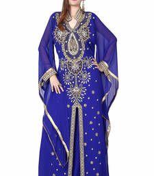 Buy blue kaftan islamic dress  Reaymade Abaya online