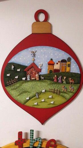 Christmas | Decor | Nativity | Button | 2017