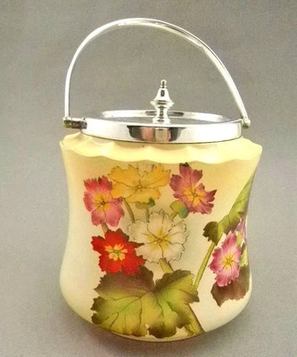 Antique Carlton Ware W Stoke on Trent Hand Painted Florals Biscuit Cracker Jar | eBay