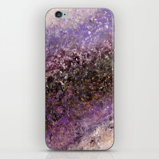 Purple and gold, space and galaxy inspired abstract iPhone and iPod Skins by Vinn Wong | Full collection vinnwong.com | Visit the shop or Pin it For Later!