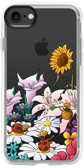 Casetify iPhone 7 Classic Grip Case - Ladybugs Flowers Floral Music Colorful - Clear by Happy Cat Prints - #casetifyartist