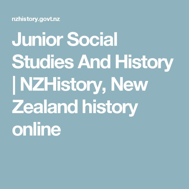 Junior Social Studies And History | NZHistory, New Zealand history online