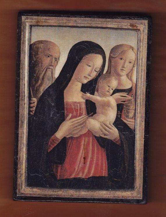 Neroccio De' Landi 1447-1500 Madonna and Child Saint by teogonia