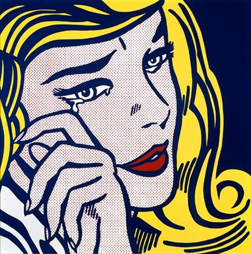 Crying girl - Roy Lichtenstein -  Pop Art, 1964