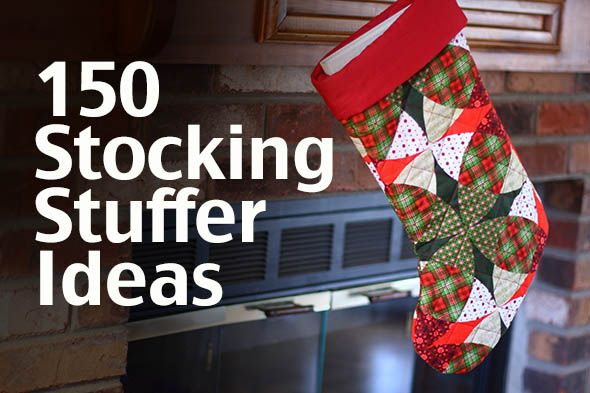 150 stocking stuffer ideas for kids, teens and adults. Something for everyone on your #Christmas list. (via The Mom Creative)