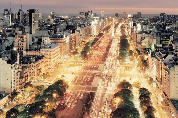 Buenos Aires, Traffic, City, Night, Argentina wallpapers