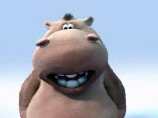 Pat et Stanley, un hippopotame et un chien, chantent le lion est mort ce soir en anglais.