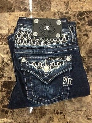 NWT!! Girl's Miss Me Jeans, Bootcut, Sequins, Size 8
