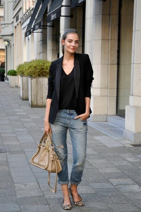 15 Lässige Jeans und ein Blazer-Outfit, Casual Outfit, Blazer tragen #LässigesOutfit