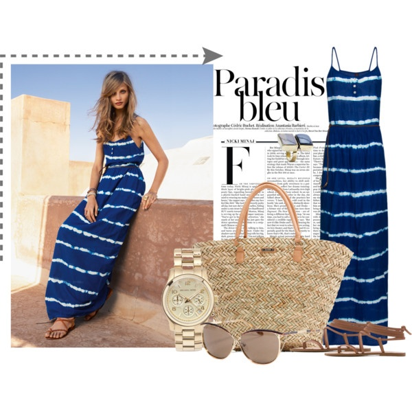 blue maxi, created by stacy-gustin on Polyvore: Fashion Accessoires, Fabulous Wardrobe, Maxis, Fashion Musts, Polyvore Outfits, Fashion Tips, Blue Maxi Dresses, Stacy Gustin, Fashion Sense