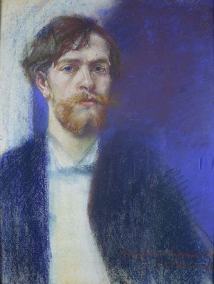 Stanislaw Wyspianski ~ Self-Portrait in Sapphire Blue, 1894
