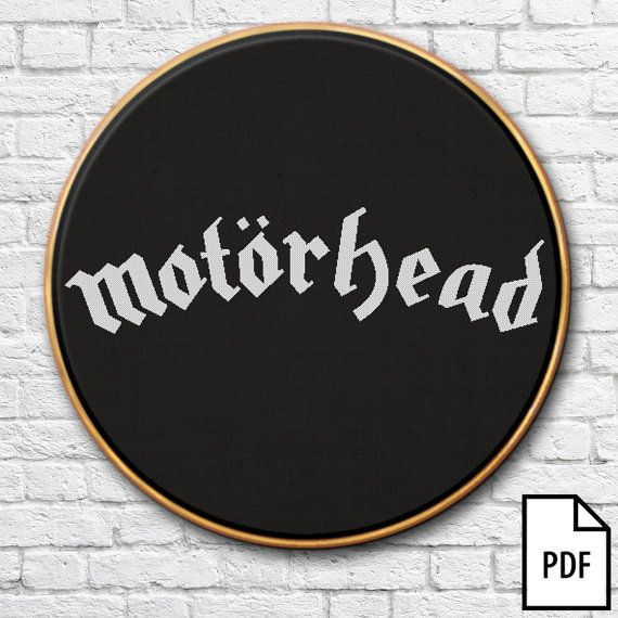 Motorhead Logo Cross Stitch Pattern [PDF FILE]