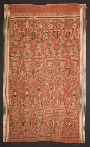 very old Iban pua kumbu from Kapuas Hulu region of Indonesia