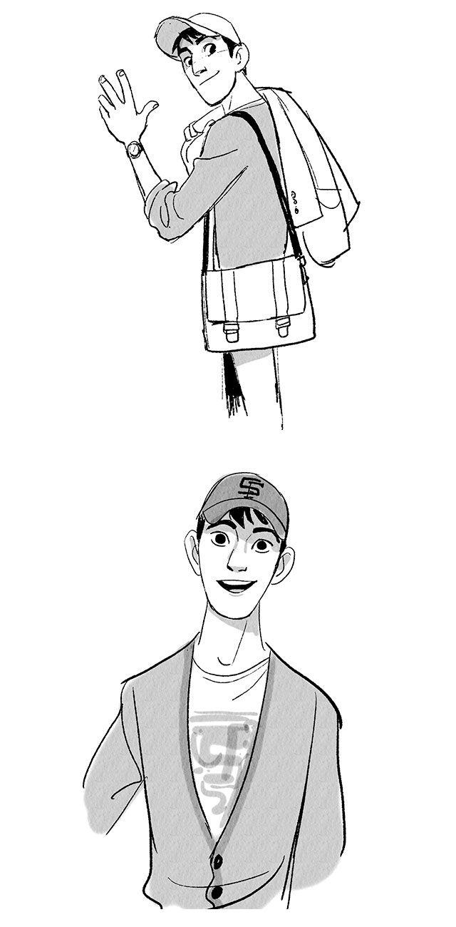 Hiro e Tadashi Hamada, de Big Hero 6!, por Jin Kim | THECAB - The Concept Art Blog