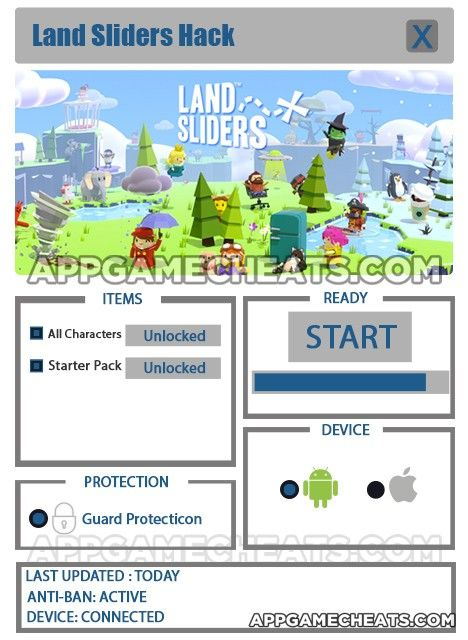 Land Sliders Cheats & Hack for All Characters & Starter Pack Unlock  #Action #Arcade #LandSliders #Strategy http://appgamecheats.com/land-sliders-cheats-hack/