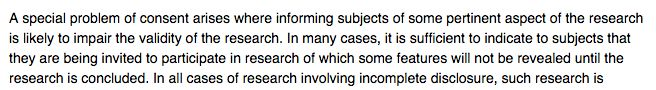 Informed Consent (Belmont Report) -- What if the research does not conclude until you are dead?