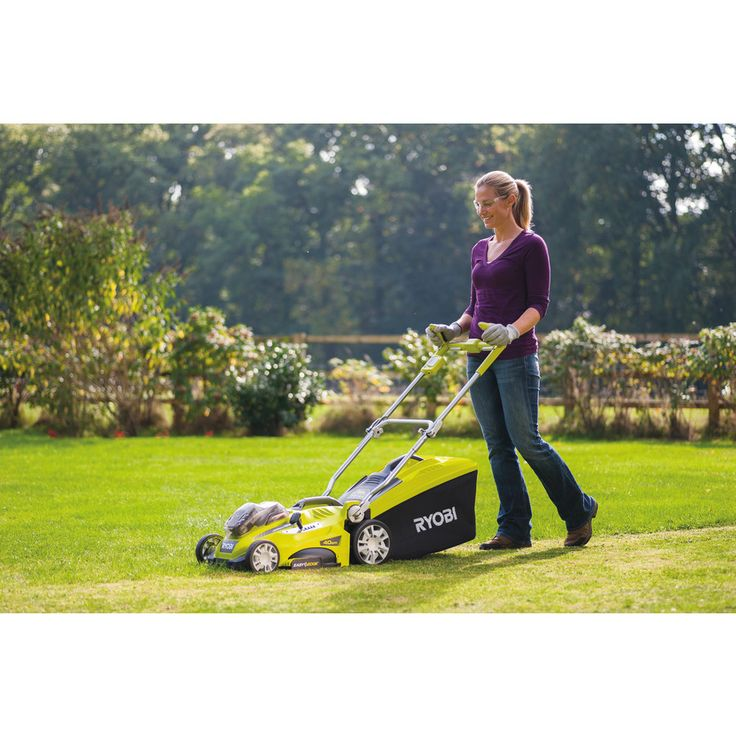 Ryobi Cordless ONE+ Lawn Mower powered by 2x 18V Batteries, which doubled up gives you 36V of power! | Outdoor Tools | Ryobi Tools