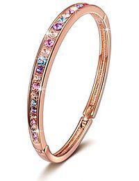 Brilla bracelet rosé d'or bijoux de femme à la mode avec cristaux de swarovski