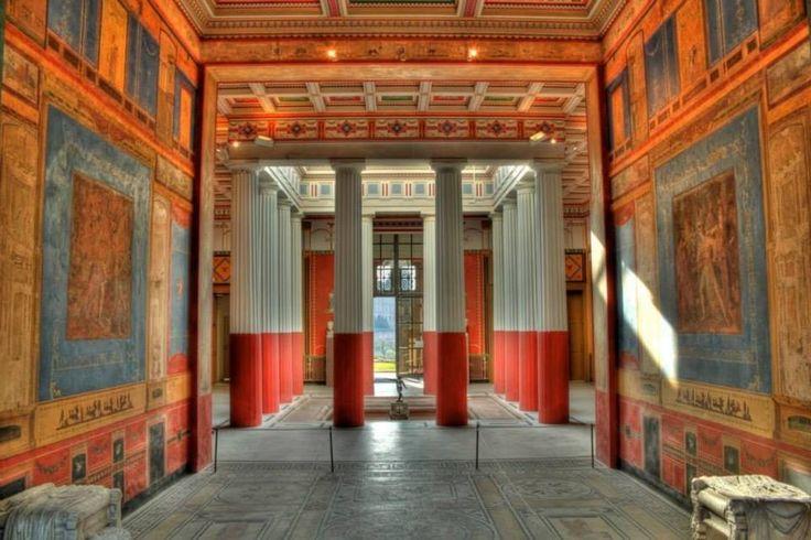 Artists reconstruction of the Roman villa near Aschaffenburg  Digital A...
