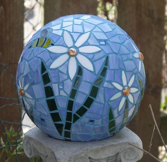 Best 25+ Garden Balls Ideas That You Will Like On Pinterest | Bowling Ball  Crafts, Garden Globes And Solar Fairy Lights