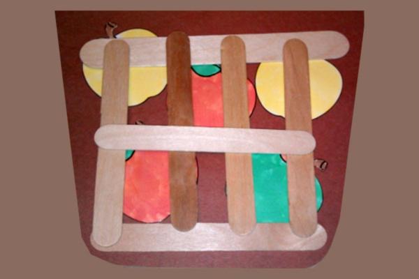 Apple Basket Preschool Art Project