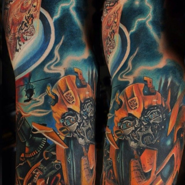 Bumblebee Transformers tattoo