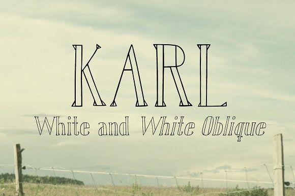 Karl White by Gustav & Brun on @creativemarket