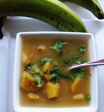 Sopa de Plátano or Plantain soup  Soups are a Colombian kitchen staple and each region has its own variations. This Sopa de Plátano verde is a simple, but delicious traditional Colombian soup.