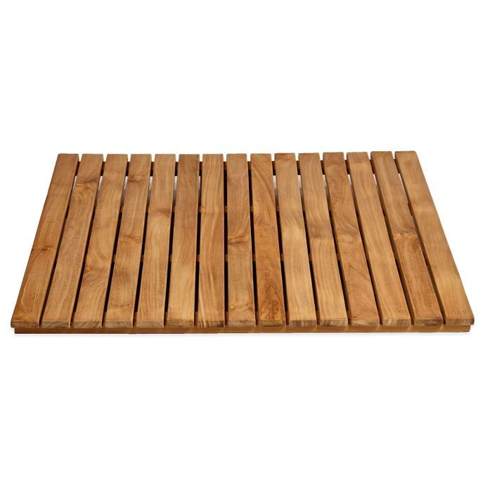 Arb Teak Specialties Teak Wood Shower Mat Bed Bath Beyond