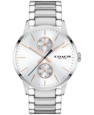 COACH Men's Metropolitan Stainless Steel Bracelet Watch 42mm 14602097   macys.com
