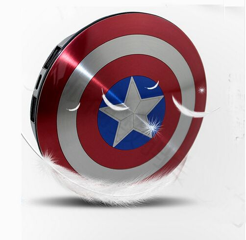 Captain America Power Bank Charger USB 6800mAh for all phones  $59.76 and FREE shipping  Get it here --> https://www.herouni.com/product/captain-america-power-bank-charger-usb-6800mah-for-all-phones/  #superhero #geek #geekculture #marvel #dccomics #superman #batman #spiderman #ironman #deadpool #memes