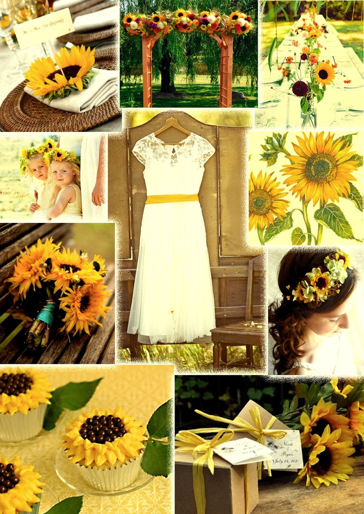 wedding ideas using sunflowers boda de campo con girasoles decoracion para boda 28340